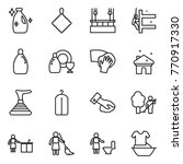 thin line icon set   cleanser ... | Shutterstock .eps vector #770917330