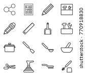 thin line icon set   share ... | Shutterstock .eps vector #770918830