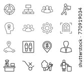 thin line icon set   target... | Shutterstock .eps vector #770919034