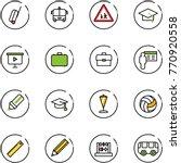 line vector icon set   suitcase ... | Shutterstock .eps vector #770920558