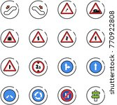 line vector icon set  ... | Shutterstock .eps vector #770922808