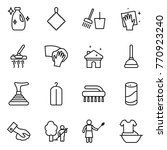 thin line icon set   cleanser ... | Shutterstock .eps vector #770923240