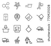 thin line icon set   share  24... | Shutterstock .eps vector #770925328