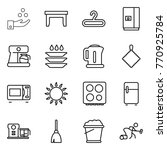thin line icon set   chemical... | Shutterstock .eps vector #770925784