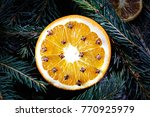 Orange With Cloves At Christma...