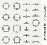 a huge rosette wicker border... | Shutterstock .eps vector #770926264