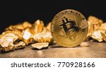 cryptocurrency bitcoin and...   Shutterstock . vector #770928166