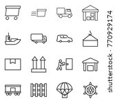 thin line icon set   delivery ... | Shutterstock .eps vector #770929174