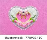 Artificial Heart Shape Of Pink...