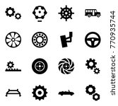 origami style icon set   gears... | Shutterstock .eps vector #770935744