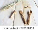 wooden kitchen utensils on... | Shutterstock . vector #770938114