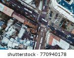 aerial view on city district...   Shutterstock . vector #770940178