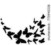 black butterfly  isolated on a... | Shutterstock . vector #770940238