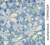 floral seamless pattern ... | Shutterstock .eps vector #770954269