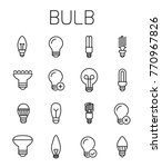 bulb related vector icon set.... | Shutterstock .eps vector #770967826