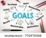 goals concept. chart with... | Shutterstock . vector #770970508