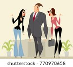 vector illustration of a man... | Shutterstock .eps vector #770970658