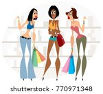 vector illustration of three... | Shutterstock .eps vector #770971348