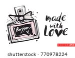 vector perfume with... | Shutterstock .eps vector #770978224