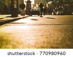 street low angle with girl in... | Shutterstock . vector #770980960