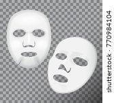vector realistic white facial...   Shutterstock .eps vector #770984104