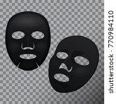 vector realistic black facial...   Shutterstock .eps vector #770984110