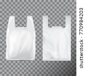 set of disposable t shirt... | Shutterstock .eps vector #770984203