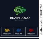 modern brain logo | Shutterstock .eps vector #770985268