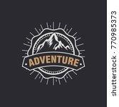 vintage camping  outdoor... | Shutterstock .eps vector #770985373