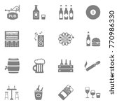 pub icons. gray flat design.... | Shutterstock .eps vector #770986330