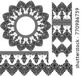 vector set of design elements ... | Shutterstock .eps vector #770986759