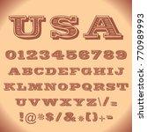 special font in vector | Shutterstock .eps vector #770989993