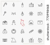 set of vector thin line icons... | Shutterstock .eps vector #770998468