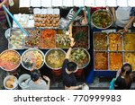 Top View Of A Thai Street Food...