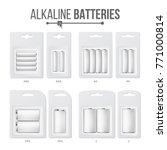 batteries packed set vector....   Shutterstock .eps vector #771000814