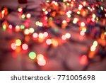 the multicolored glittering... | Shutterstock . vector #771005698