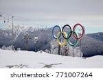 krasnaya polyana  sochi  ... | Shutterstock . vector #771007264