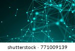 abstract polygonal space... | Shutterstock . vector #771009139