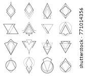 set of minimalistic geometric... | Shutterstock .eps vector #771014356