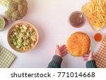 children's choice between... | Shutterstock . vector #771014668
