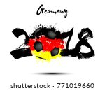 abstract number 2018 and soccer ... | Shutterstock .eps vector #771019660