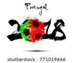abstract number 2018 and soccer ... | Shutterstock .eps vector #771019666