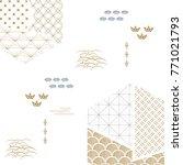 japanese pattern vector. gold... | Shutterstock .eps vector #771021793