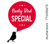 early bird special discount... | Shutterstock .eps vector #771030673