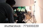 behind the scenes of shooting... | Shutterstock . vector #771033220