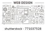 web design concept  vector line ... | Shutterstock .eps vector #771037528