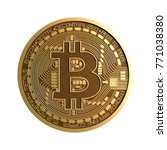 isolated physical bitcoin | Shutterstock . vector #771038380