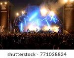 barcelona   jun 1  people in a... | Shutterstock . vector #771038824