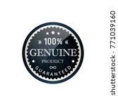 genuine labels simple and clear ... | Shutterstock .eps vector #771039160