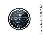 genuine labels simple and clear ... | Shutterstock .eps vector #771039163